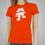 Monstercat Anniversary Logo Orange Girls T-Shirt