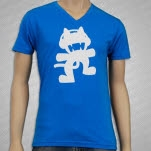 Monstercat Anniversary Logo V Neck Blue T-Shirt