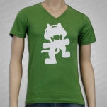 Monstercat Anniversary Logo V Neck Green T-Shirt