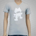 Monstercat Anniversary Logo V Neck Grey T-Shirt