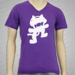 Monstercat Anniversary Logo V Neck Purple T-Shirt