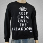 Mosh It Up Clothing Keep Calm Black Crewneck Sweatshirt