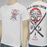 Mosh It Up Clothing Ninja Mosh White T-Shirt