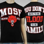 Mosh It Up Clothing Worldwide Wolf Pack BlackRed T-Shirt