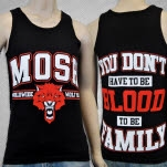 Mosh It Up Clothing WorldWide Wolf Pack BlackRed Tank Top