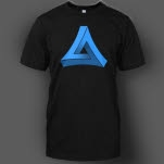 Most Addictive Drum And Bass Blue on Black T-Shirt