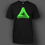 Most Addictive Electro Green on Black T-Shirt