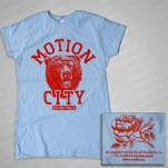 Motion City Soundtrack Bear Light Blue Girls T-Shirt