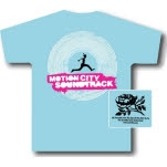 Motion City Soundtrack Runner Light Blue T-Shirt