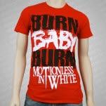 Motionless In White Burn Baby Burn Red T-Shirt