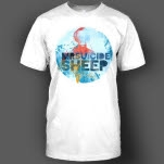 official MrSuicideSheep Globe White T-Shirt