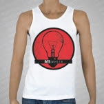 MSWHITE Lightbulb White Tank Top