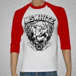 MSWHITE Bull RedWhite Baseball T-Shirt