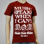 Music Over Matter Clothing Music Speaks Maroon T-Shirt