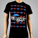 My American Heart Umbrella Black T-Shirt