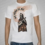 My Hero Is Me Guitar Death White T-Shirt