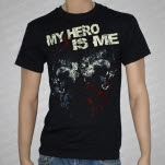 My Hero Is Me Wolf Black T-Shirt