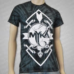 Myka    Relocate Arrow Spider Black Tie Dye T-Shirt