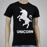 Mythical Creature Butcher Shop Unicorn Black T-Shirt