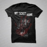 My Ticket Home Haunted House Black T-Shirt
