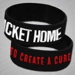 My Ticket Home To Create A Cure 2 Colored Black Wristband