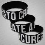 My Ticket Home To Create A Cure Black Wristband