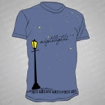 Nightlights Streetlight Blue T-Shirt