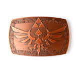 Nintendo Zelda Copper Patina Buckle