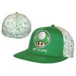 Nintendo White Green Mushroom Widebill Cap