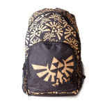 Nintendo Zelda Black Golden Logo Backpack