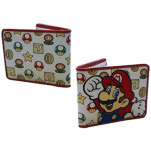 Nintendo Mushroom Pattern With Mario Bifold Wallet