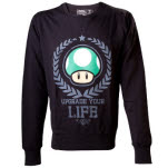 Nintendo Black Upgrade Your Life Sweate Sweater