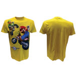 Nintendo Yellow Mario And Luigi Mariokart T-Shirt