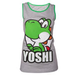 Nintendo Grey Green Yoshi Girls Tank Top Top