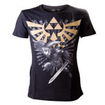 Nintendo Black Zelda T Shirt With Link T-Shirt