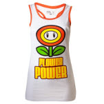 Nintendo White Flower Power Female Top Top