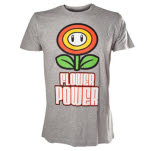 Nintendo Flower Power Grey T-Shirt
