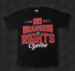 No Bragging Rights Cycles Black T-Shirt