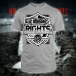 No Bragging Rights Shield Heather Grey T-Shirt