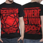 Oceans Red Blood Black T-Shirt