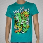 Of Machines Frog Teal T-Shirt