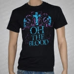 Oh The Blood Cross and Skulls Black T-Shirt
