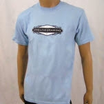 Onelinedrawing Name Plate Light Blue T-Shirt
