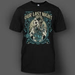 Our Last Night Flowers Black T-Shirt