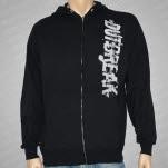 Outbreak Giant Logo Black Hoodie Zip