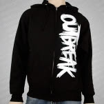 Outbreak New Logo Black Hoodie Zip