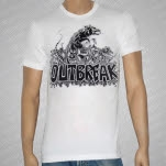 Outbreak Rat White T-Shirt