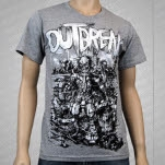 Outbreak Robots Heather Gray T-Shirt