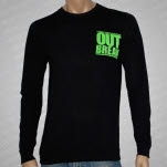 Outbreak Youre Scum Green on Black Long Sleeve Shirt