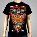 Outbreak Tattoo Flash Black T-Shirt